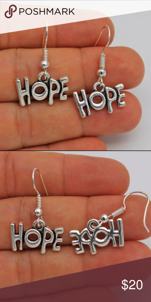 "Fashion 925 silver plated earrings Adorable, light weight. ""Hope"" earrings Jewelry Earrings"