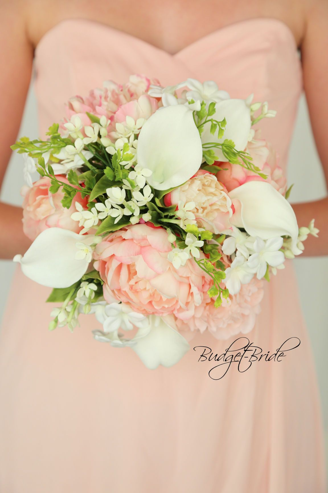87cc0d06bdf Blush Pink Davids Bridal Wedding brides bouquet with pink peonies ...