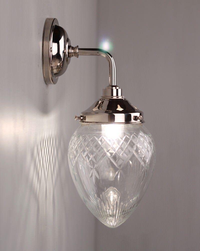 Designer Wall Light Penyard Clear Cut Glass Contemporary Bathroom Wall Light (IP44 Rated) & Penyard Clear Cut Glass Contemporary Bathroom Wall Light | Pinterest ...
