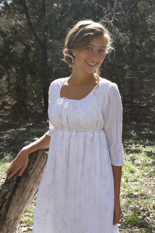 Regency Drawstring Gown Jane Austen Dress - Ready to Ship - Pride ...