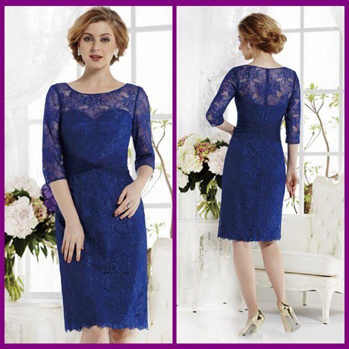 Corto-elegante-trajes-pantalón-azul-marino-hasta-la-rodilla-lf2739 ...