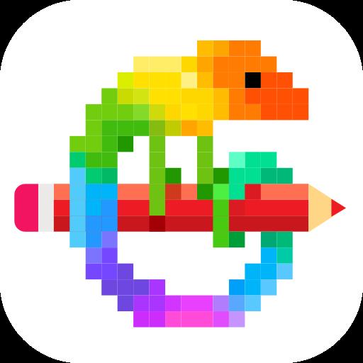 Pixel Art Color By Number Game V6 1 1 Mod Apk Pixel Art Link Pixel Art Number Games