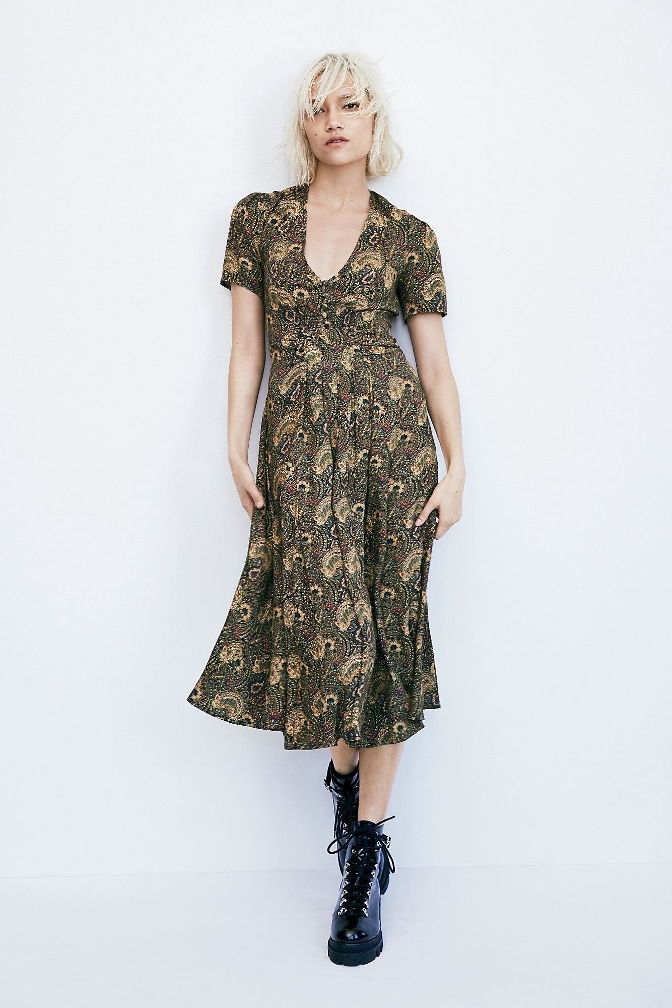 d74c239c51bf Free People Olivia Midi Dress - Natural 0 | Products | Dresses, Free ...