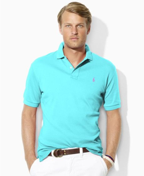4db157ea01ff Ralph Lauren turquoise polo + white pants   perfect summer look! Mens  Fashion Shoes