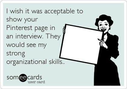 Pinterest = organization!!
