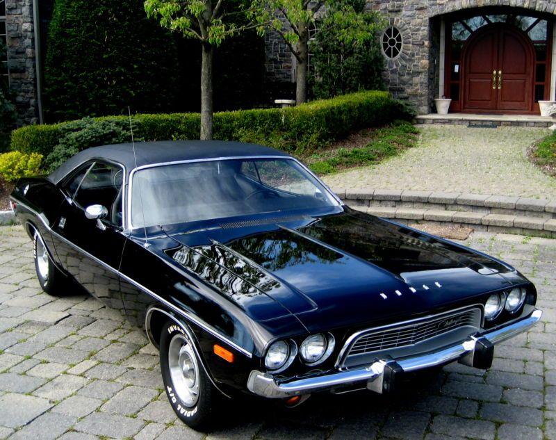 1973 Dodge Challenger E Body Rare Triple Black Cars