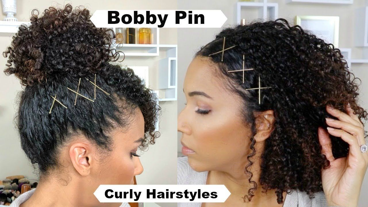 Spice Up Curly Hairstyles With Bobby Pins - YouTube | Natural hair styles,  Curly hair styles, Medium natural hair styles