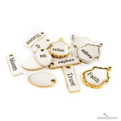 How to make a necklace. Make These Faux French Enamel Tags! - Step 13