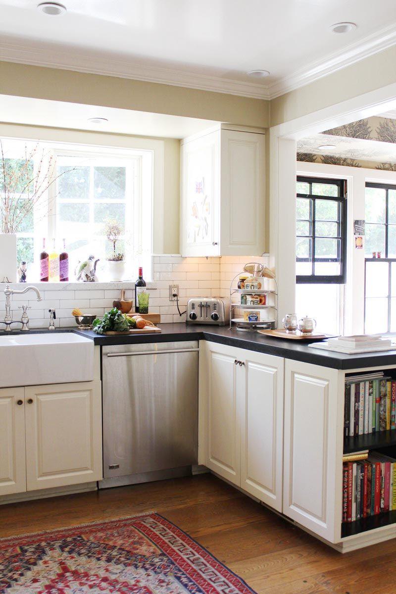 cocina pequeña blanca esquina   Cocinas Modernas   Pinterest ...