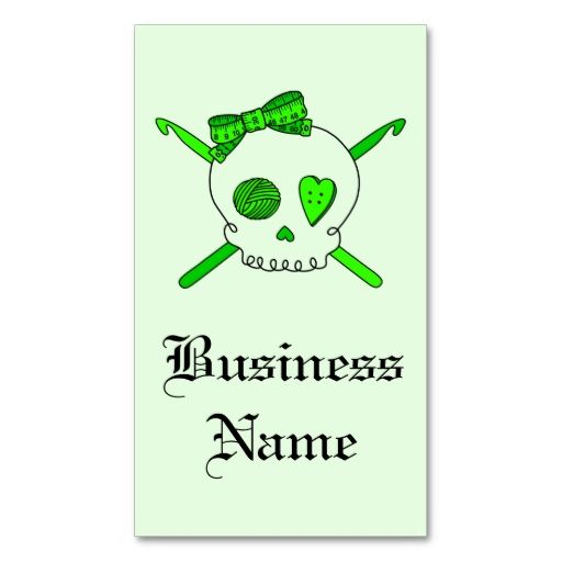 Skull and crochet hooks lime green business card template this is skull and crochet hooks lime green business card template this is a fully reheart