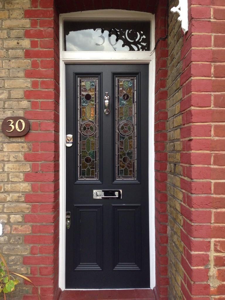 Admirable Wow Stunning Victorian Front Door With Leaded Light Door Handles Collection Olytizonderlifede