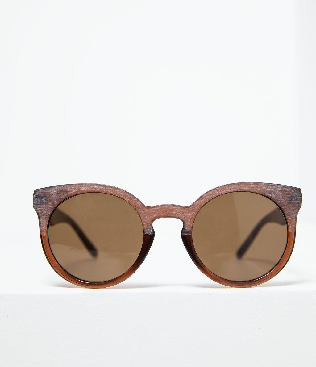 c86caa57d6 ZARA - NEW THIS WEEK - WOOD EFFECT SUNGLASSES Gafas De Sol, Empaques,  Accesorios