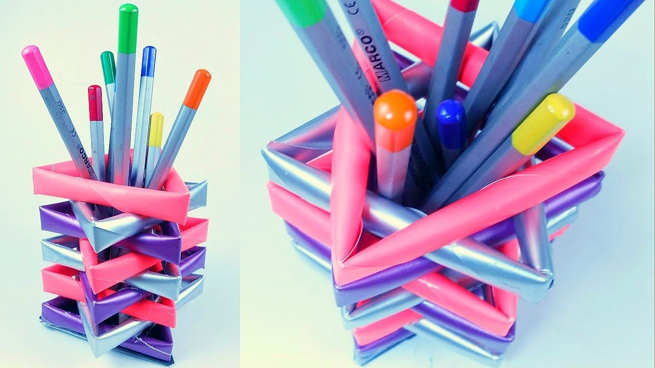 Back To School Diy Paper Pencil Holder Pen Stand From