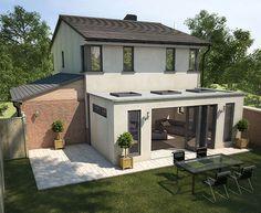 Flat Roof For Extension Rasshirenie Doma Arhitektura Postroit Dom