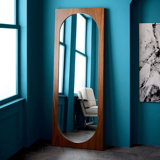 $400 Curved Cutaway Floor Mirror | French Apartment 1 | Pinterest ...