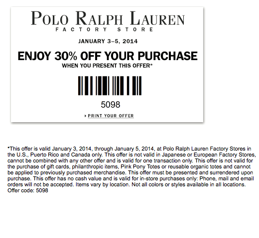 30 off at polo ralph lauren coupon codes pinterest polo ralph lauren. Black Bedroom Furniture Sets. Home Design Ideas
