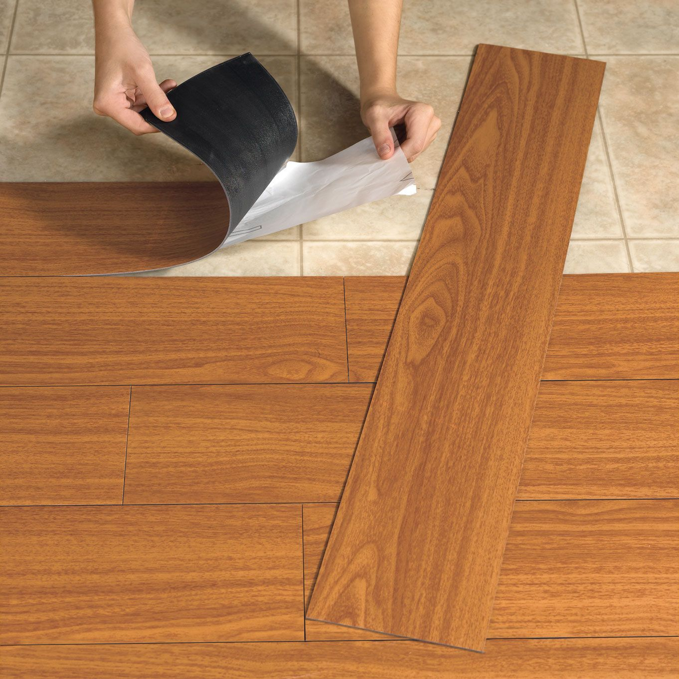Vinyl Tile Or Vinyl Planks Give The Installer More Flexibility For Creativity And Design Vinyl Tile Is Usually A L Peel And Stick Wood Flooring Plank Flooring