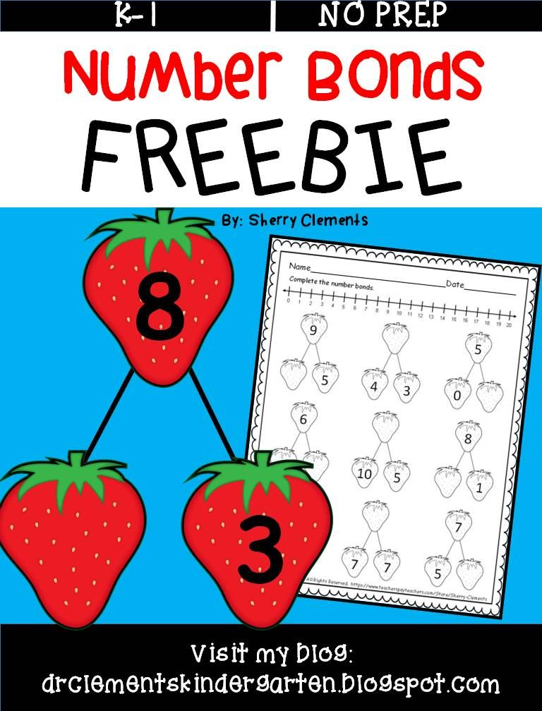 FREEBIE Number Bonds - Students complete the number bonds with ...