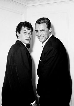 """""""I became great friends with all my co-stars. With Gregory Peck, Burt Lancaster, Jack Lemmon and Cary Grant … Cary Grant … Cary Grant. He could have picked anyone, but he allowed me the privilege to be in the movie with him. Jesus. To be in a movie with Cary Grant. Meeting him was the best thing that ever happened to me. He was the reason why I wanted to get into the movies - and that is all I ever wanted."""" - Tony Curtis"""