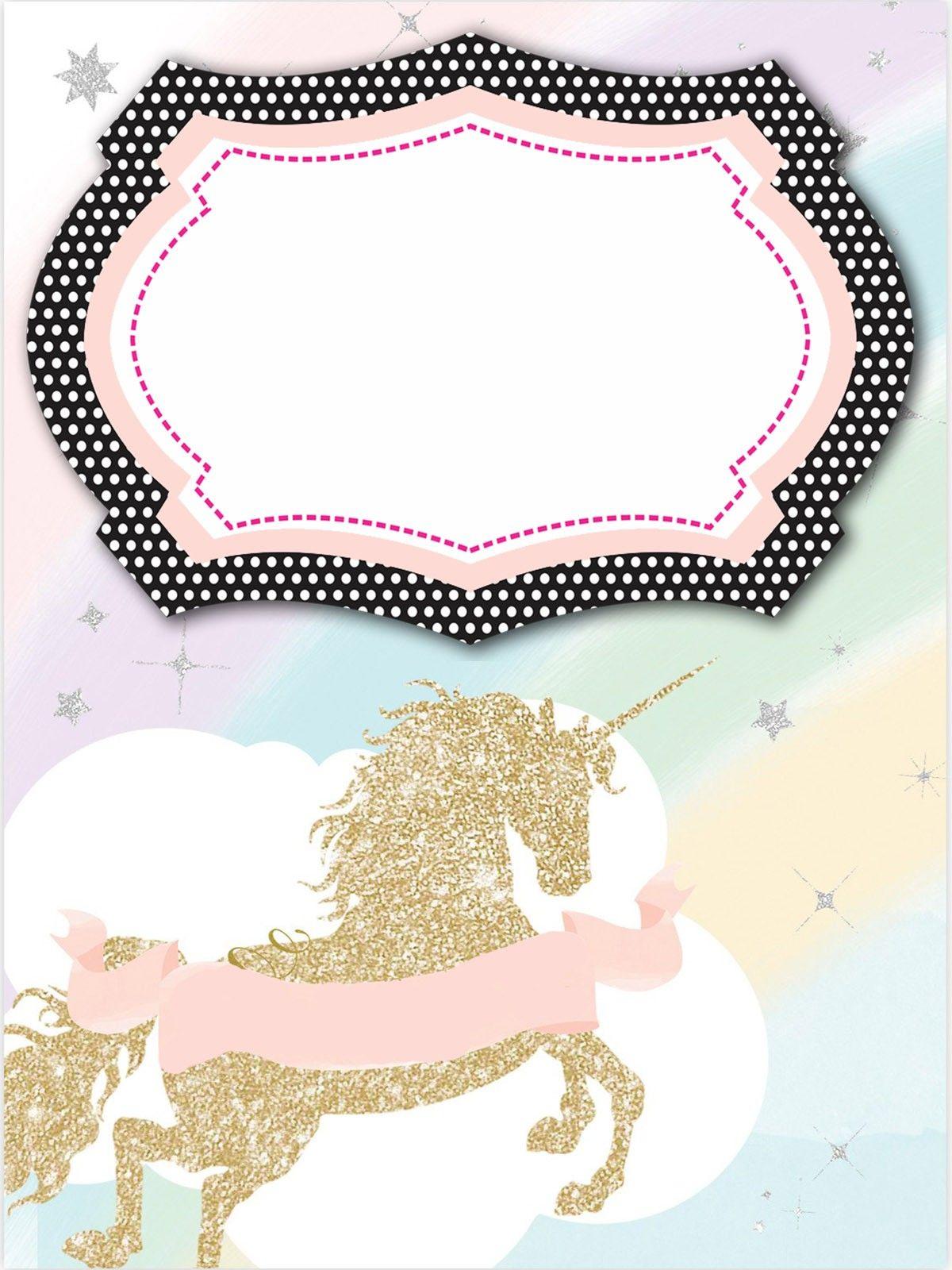 Unicorn Invitation Template Unicorn Invitations Unicorn Birthday Invitations Free Printable Birthday Invitations Girl