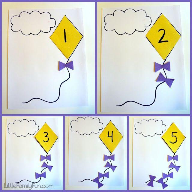 Little Family Fun: Kite Counting - Math Activity for Preschoolers ...