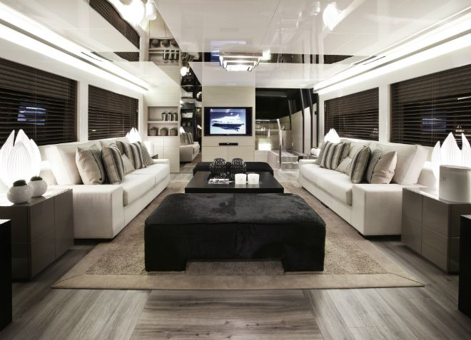 Pearl 75, a modern yacht\'s design   Modern, Boat decor and Interiors