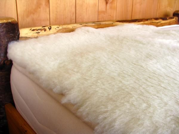 """This is pure delight. Imagine a dreamy-soft lambswool fleece woven into a smooth organic cotton backing. Much better than a traditional sheepskin, which is cured with toxic chemicals. Unmatched in it's softness, the wool fibers stand about 1"""" high.  It's therapeutic for those who spend a lot of  time in bed, or are prone to bed sores. This topper may also be helpful for those with fibromyalgia. It is incredibly healing, breathable and great for circulation."""