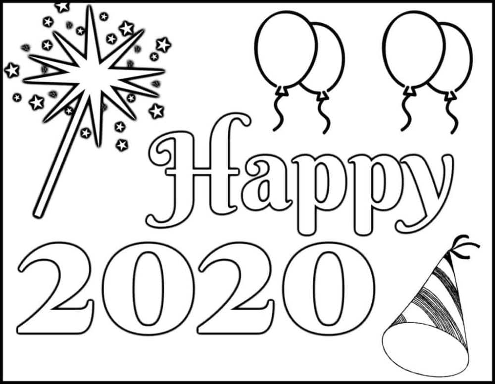 New Year S Coloring Page 2020 Let Your New Year Coloring Pages Coloring Pages Coloring Pages For Kids