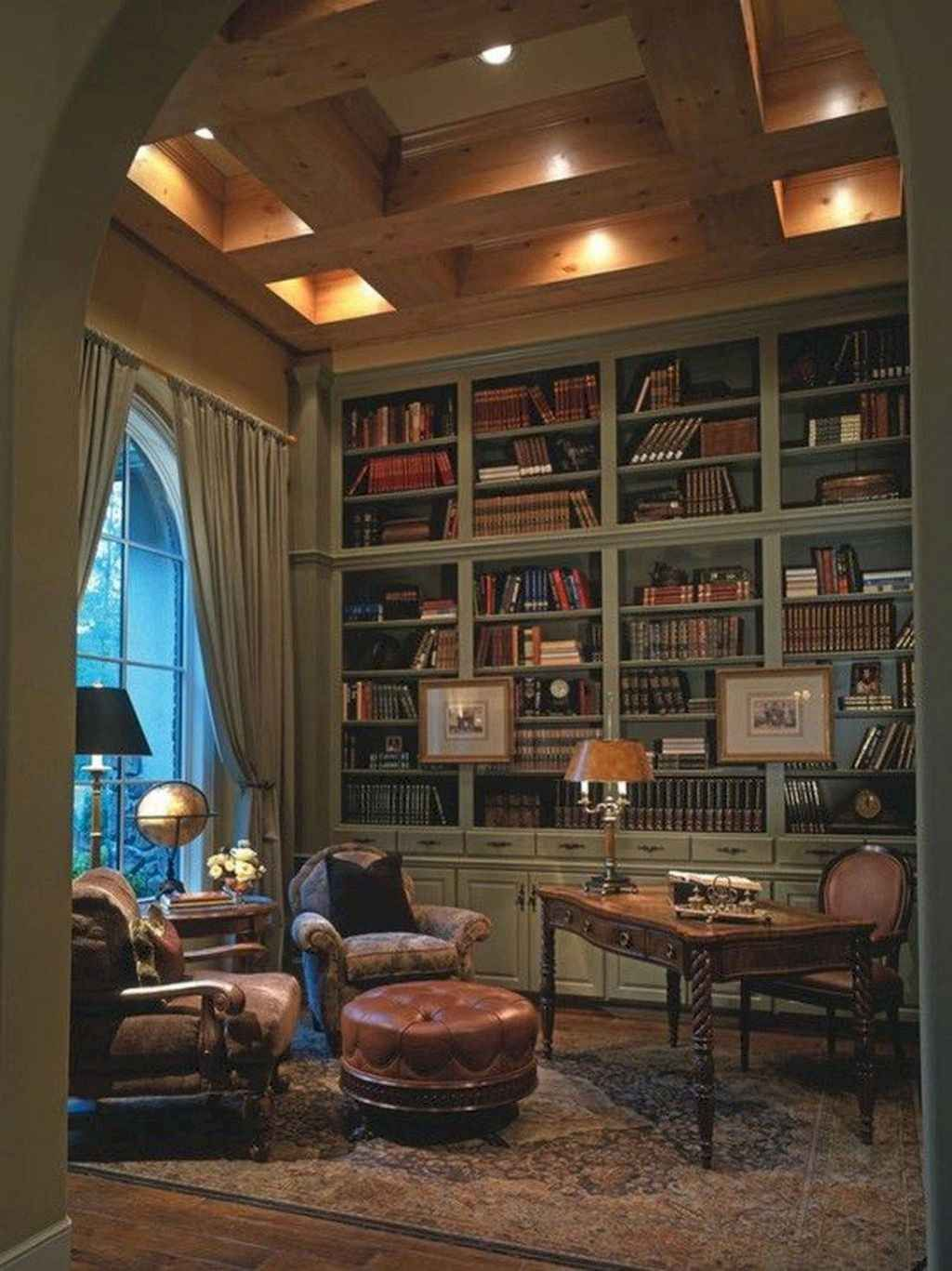 Living Room Library Design Ideas: 12 Amazing French Country Living Room Decor Ideas
