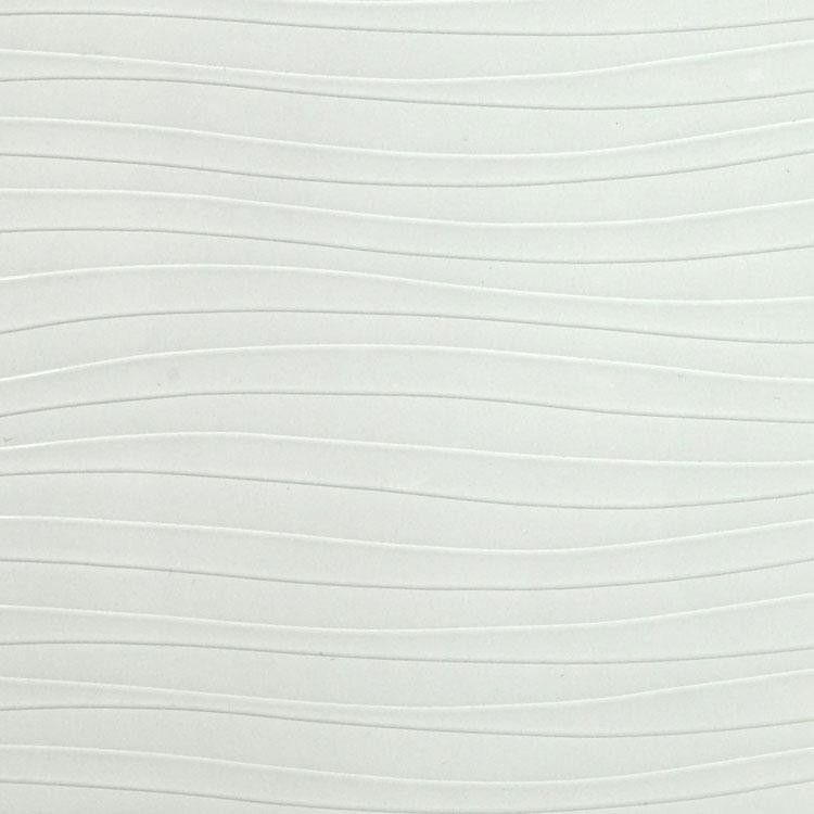 High Gloss White Wave Pattern Textured