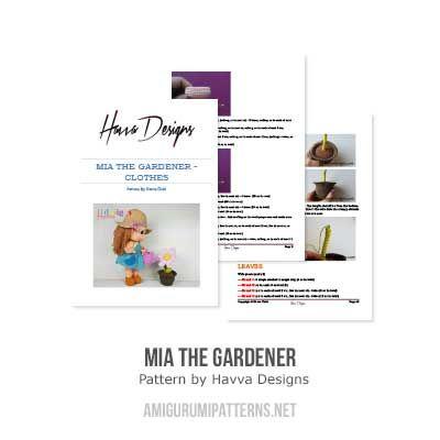 Mia The Gardener Amigurumi Pattern By Havva Designs Muñecas