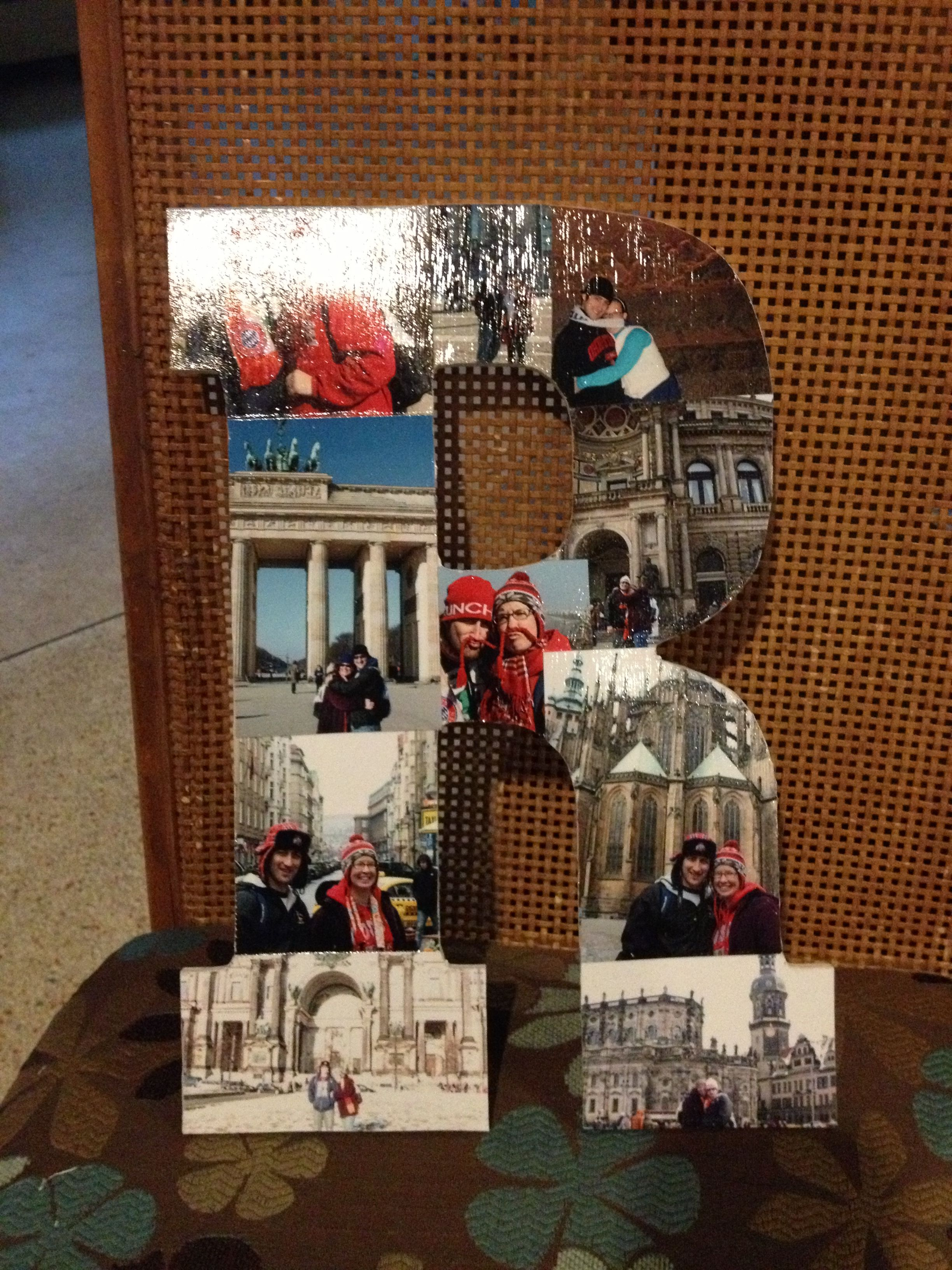 Mod Podge Photos Onto Wood Letter Great End Of The Year Gift To