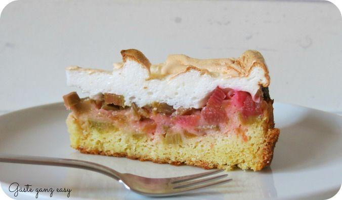 Rhabarber-Kuchen mit Baiser