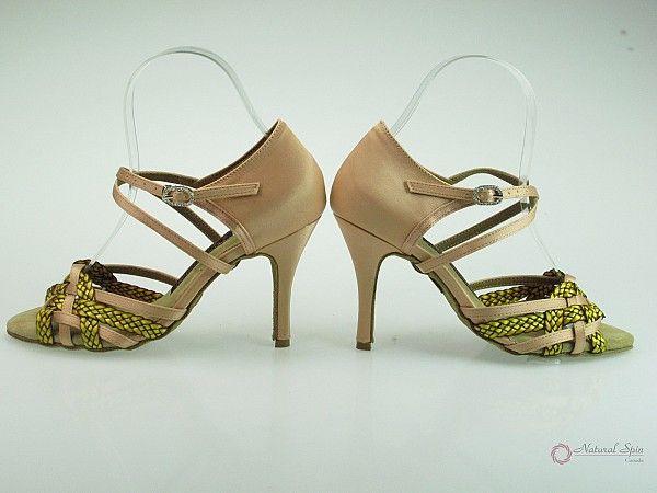 Natural Spin Signature Latin Shoes(Open Toe):  H11125F-16 02_FleshJS