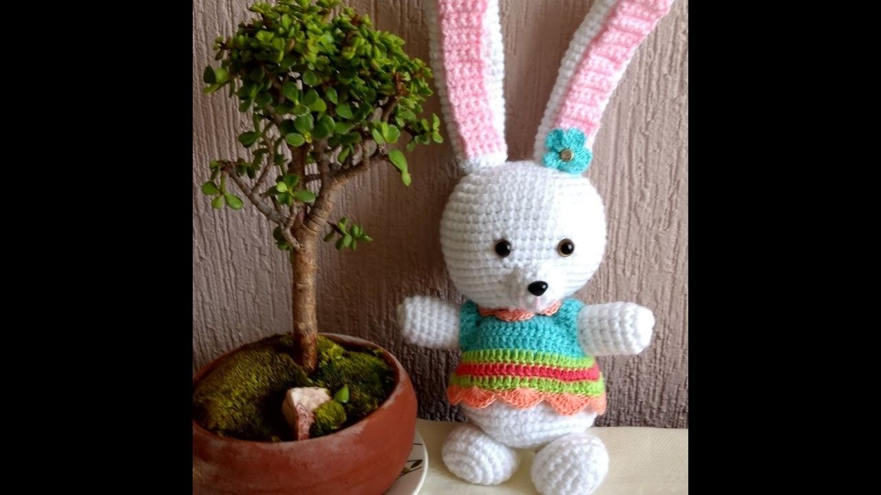 Amigurumi Conejo Paso A Paso : Conejo de pascua en crochet divertido tierno amigurumi paso