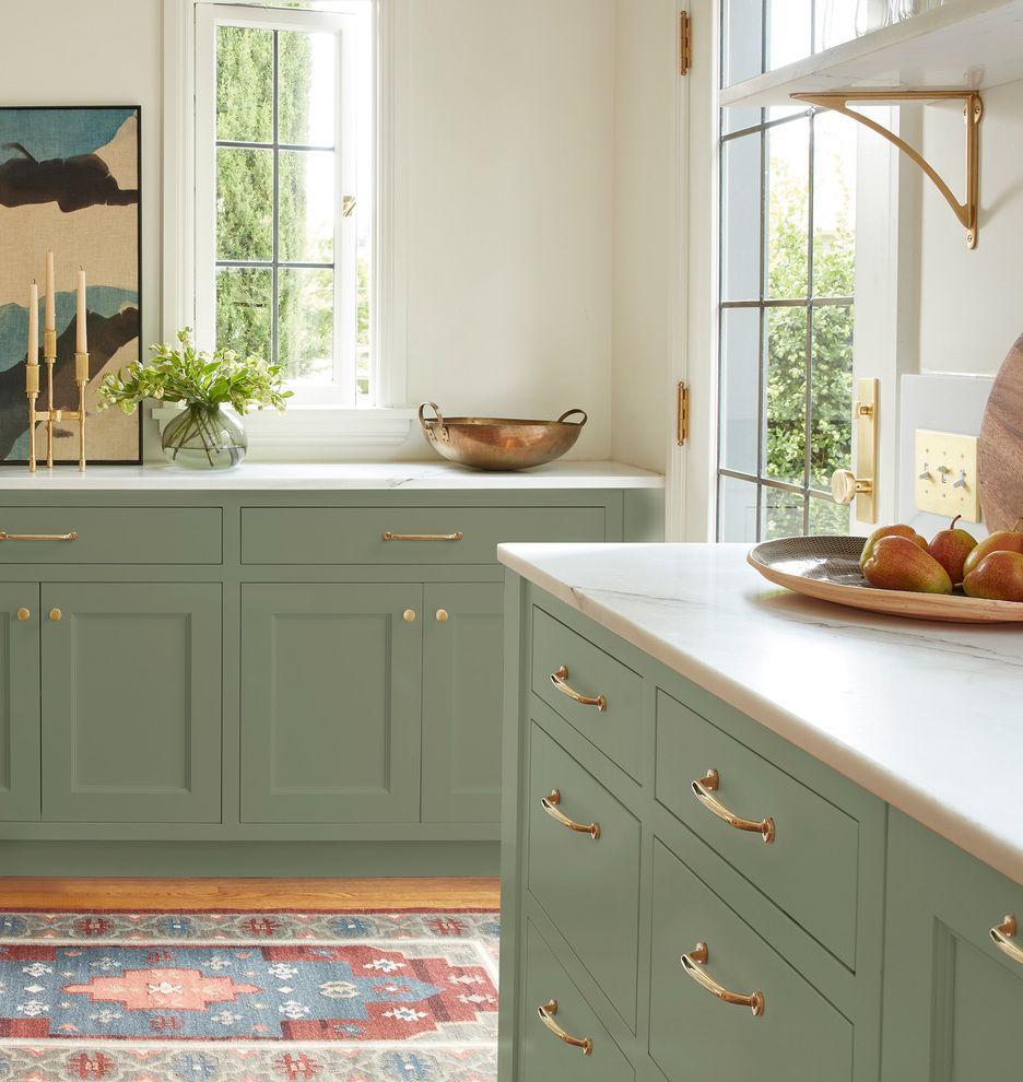 Large Arched Shelf Brackets Rejuvenation In 2020 Green Kitchen Cabinets Kitchen Cabinet Colors Kitchen Cabinets