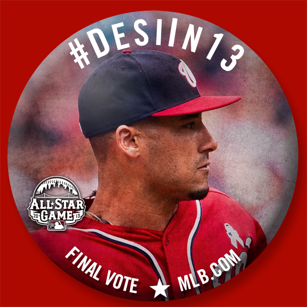 Vote #DesiIn13 to help Ian Desmond make it to the #ASG in NYC!