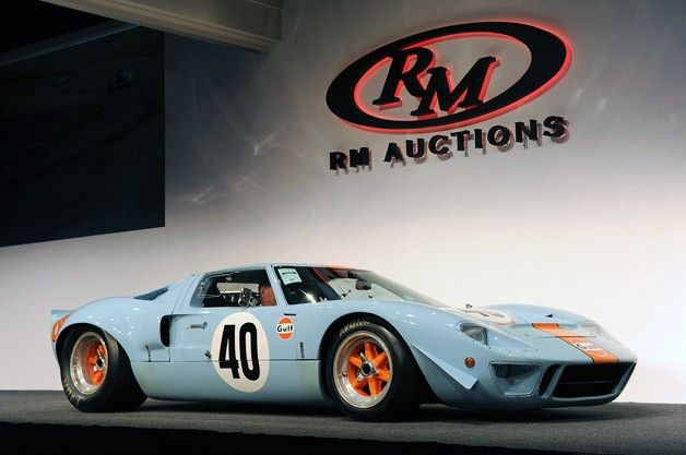 1968 ford gt40 gulfmirage sets auction record at 11 million - 1966 Ford Gt40 Gulf