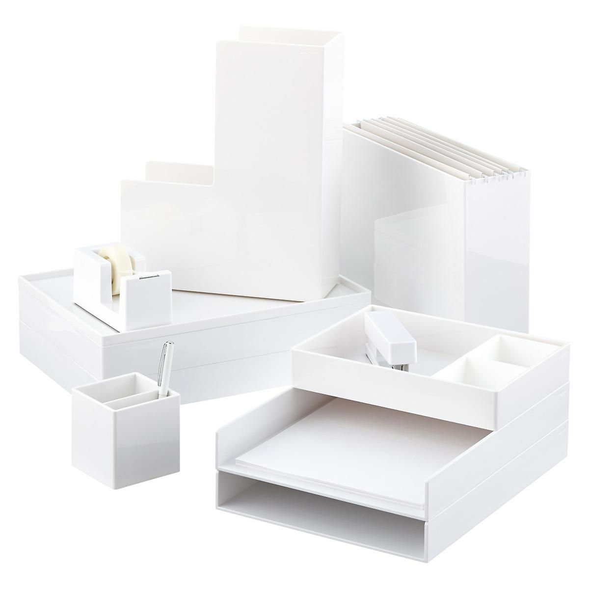 White Poppin Accessory Trays | Letter tray, Kitchen office and Trays
