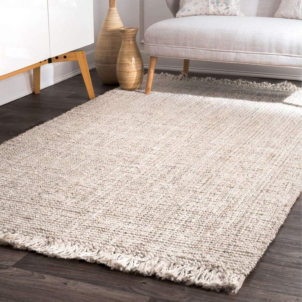 Hand Tufted Deonna Solid Color Area Rugs Jute Area Rugs Cool Rugs