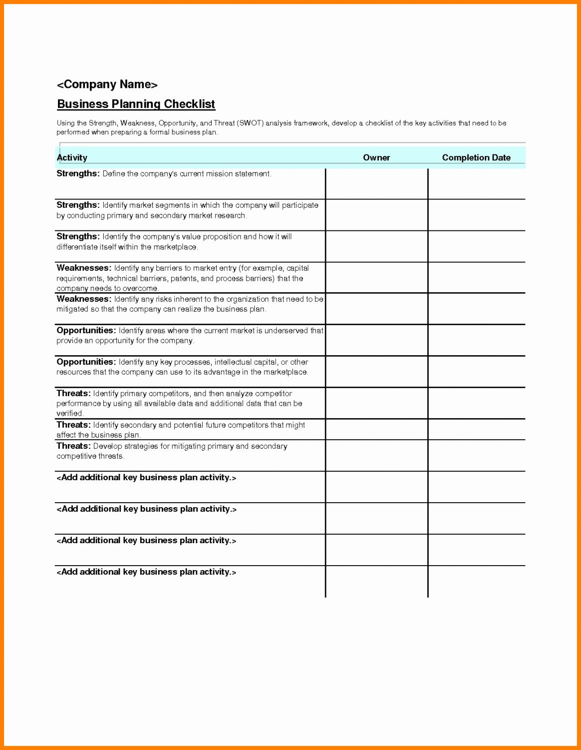 Get Our Sample Of Corporate Event Checklist Template In