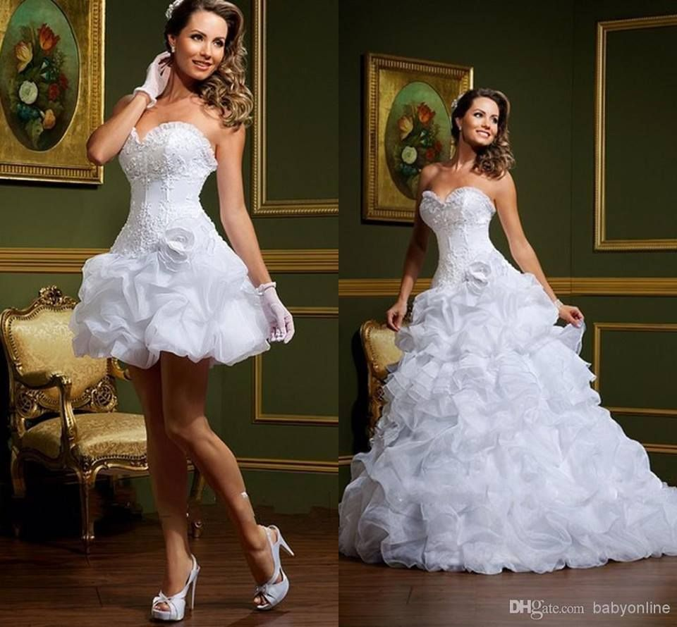 Short western style wedding dresses  desmontable  vestidos  Pinterest