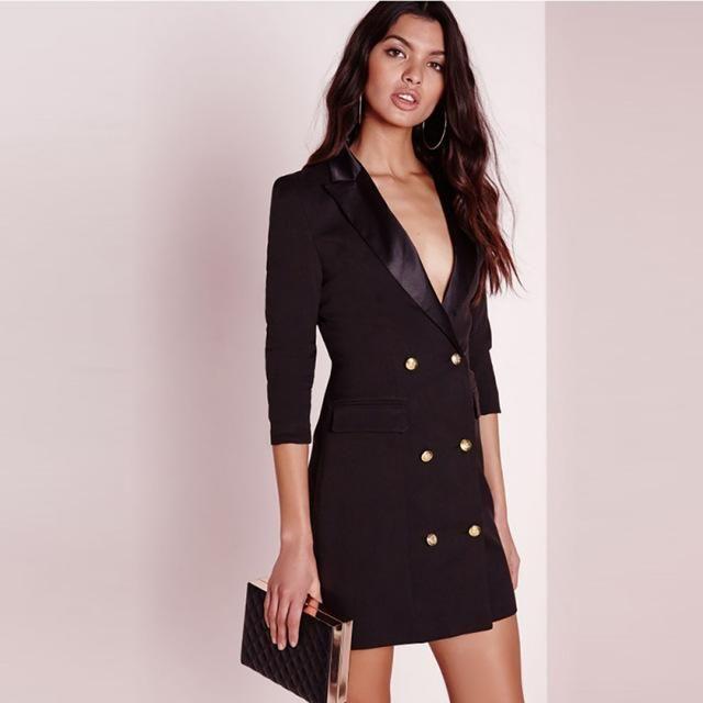 aeba7edf3fc7 Black blazer dress in 2019 | Products | Blazer dress, Tuxedo dress ...