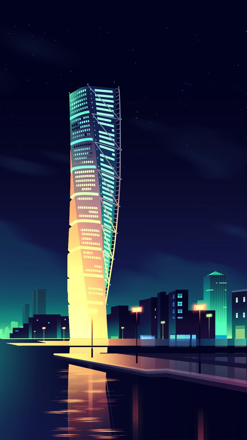 Animated Night City Wallpaper Iphone Wallpaper City Iphone Wallpaper Christmas Lights Wallpaper City Wallpaper