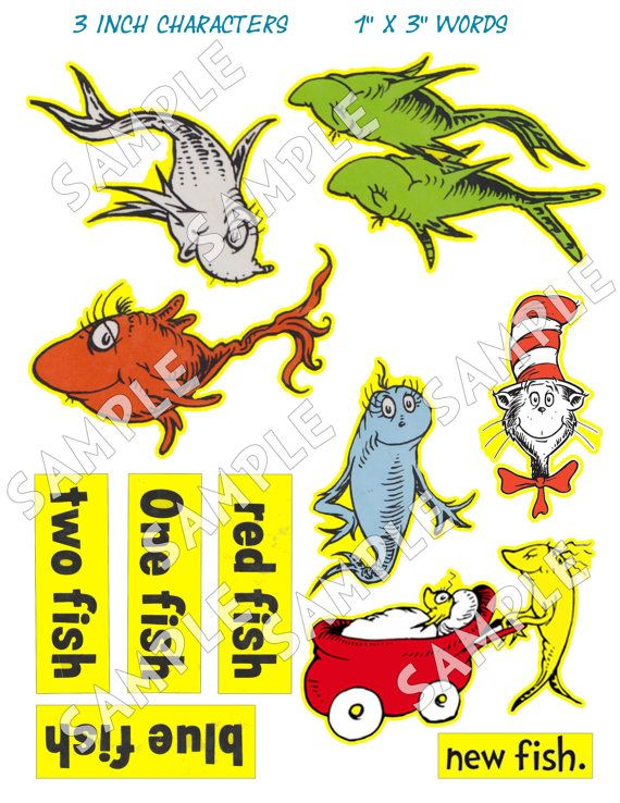 Dr Seuss Edible Sugar Cupcake Toppers Set Of 12 Kitchen, Dining & Bar Baking Accs. & Cake Decorating