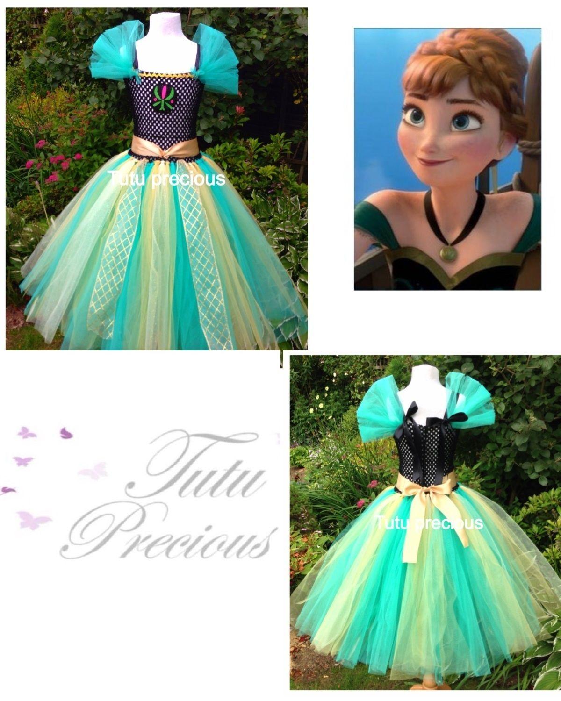 Anna Frozen Coronation Inspired Tutu Dress
