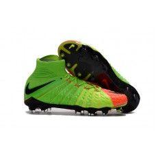 Bien Chaud Chaussures De Foot Nike Enfant Hypervenom Phantom III 3 DF FG -  Vert Électrique 19e30ee044f01