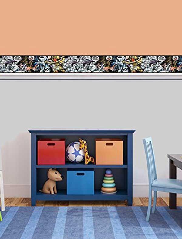 Star Wars Cartoon Self Adhesive Wallpaper Border Bedroom Kids Toddler Bed Self Adhesive Wallpaper Borders Wallpaper Border