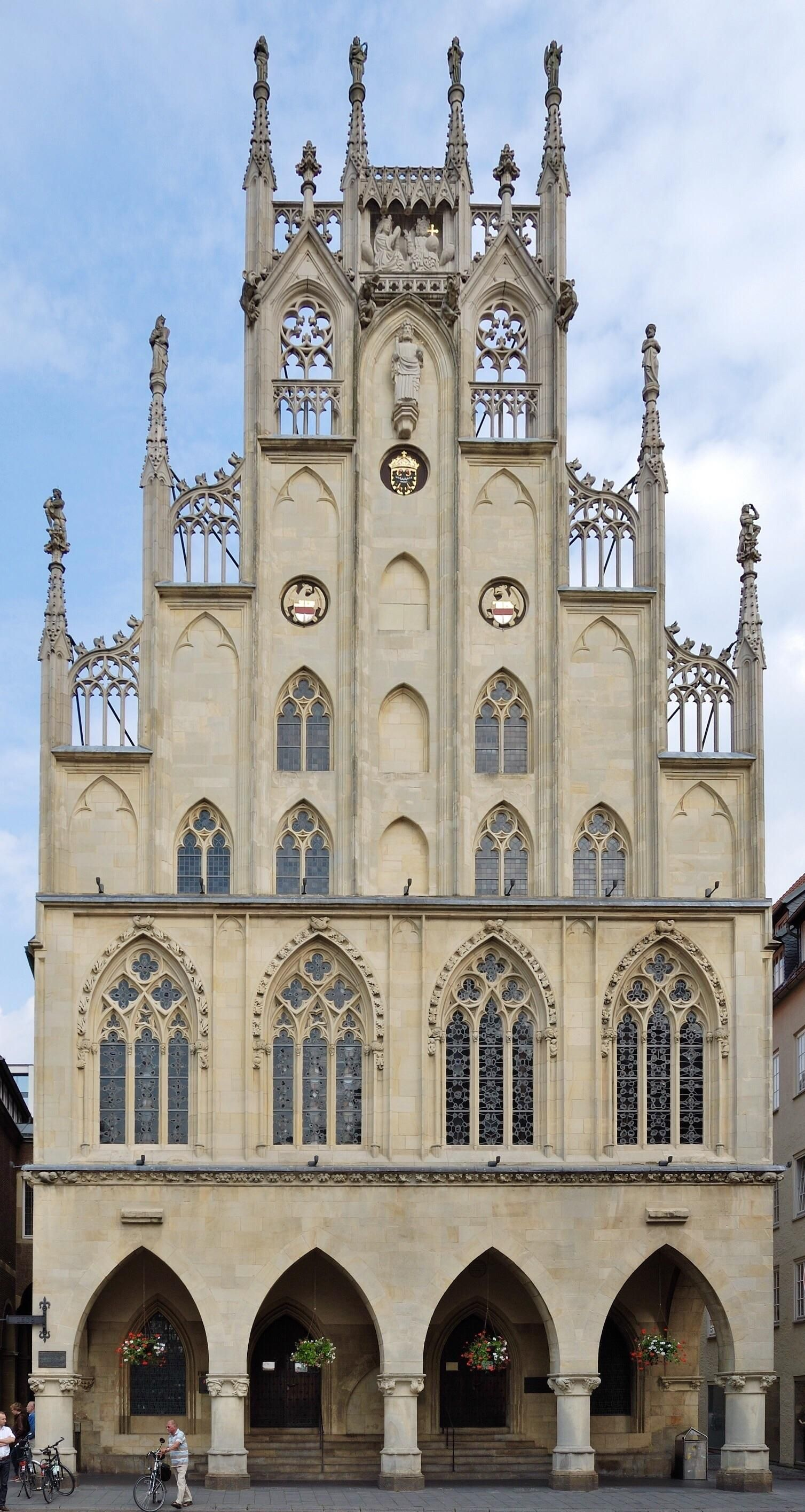 The Gothic City Hall Of Munster Germany 14th Century