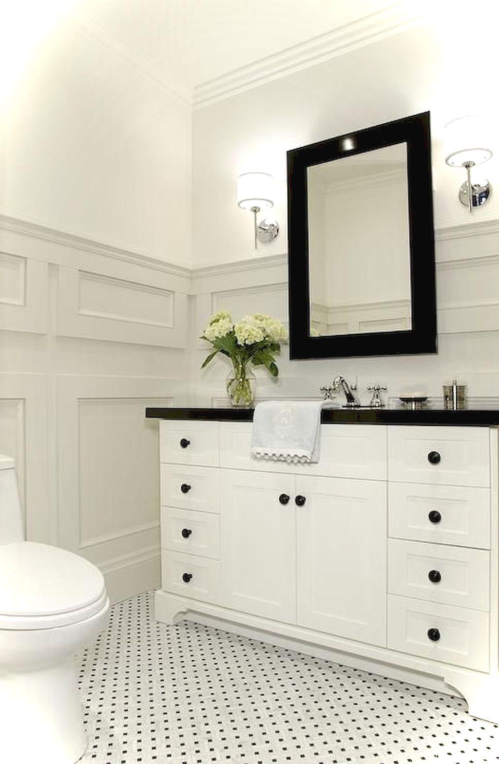 99+ Luxury Black and White Bathroom Ideas | SMALL BATHROOM AND ...